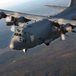 AC-130U Spooky Gunship of the 4th Special Opeartions Squadron Hurlburt Field Fl., flies over surrounding areas for local area training proficiency.